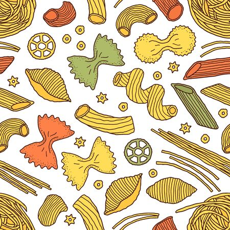 pattern with pasta illustration