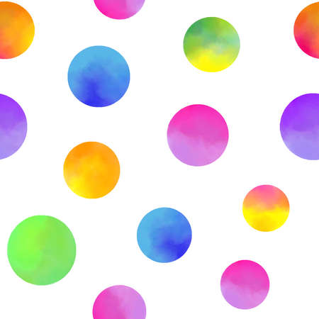 pattern with watercolor circles