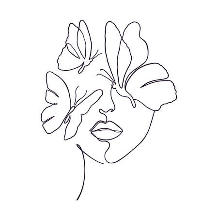 Minimal woman face