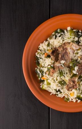 plato del buen comer: risotto de cebada con sepia y habas