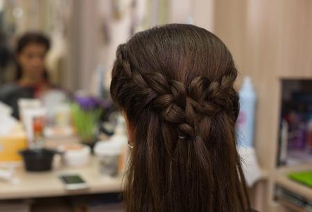 Hairdressing. Wave . Beautiful Natural Hair. Stock Photo