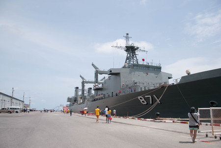 H.T.M.S.SIMILAN at Sattahip District. Open for people who like warship to visit for  imparting of knowledge everyday.