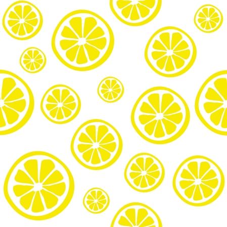 Lemon seamless vector pattern. Illustration