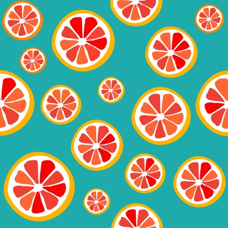 Seamless pattern grapefruit