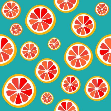 Seamless pattern grapefruit