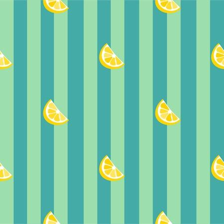 Lemon seamless vector pattern. Illustration