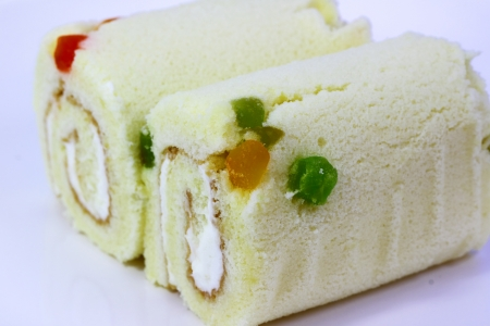 Fruit cake roll