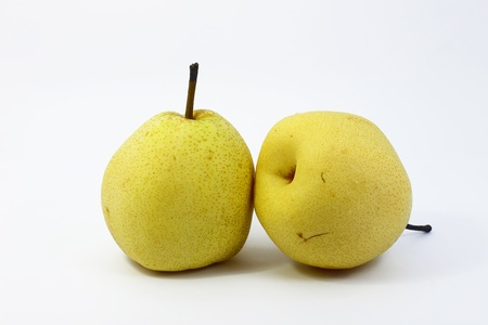 Pear with white background