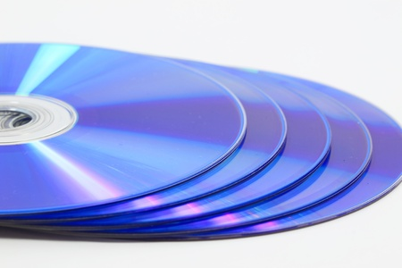 DVD disc with white background Stock Photo