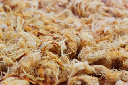 Close up Dried shredded pork photo