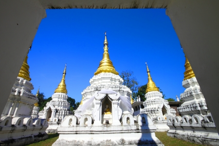 Wat chedi sao is the temple in Lampang,Thailand photo