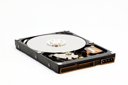 Hard disk on white background Stock Photo - 17004663