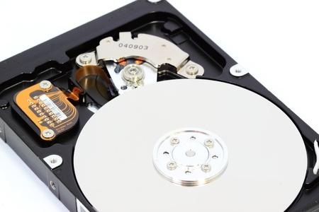 terabyte: Hard disk on white background