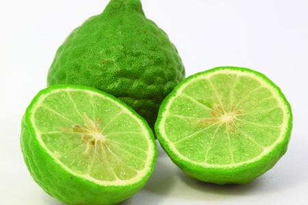 Bergamot on the white background photo