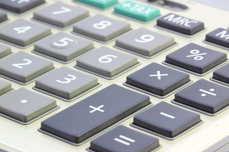 Close up Calculator Stock Photo