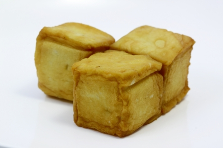 Fish tofu with white background Stock Photo