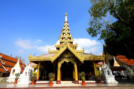 Wat Phra Kaew Don Tao in Lampang,Temple in Thailand photo