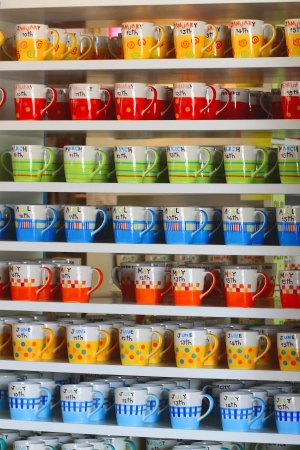 Colorful ceramic mug photo