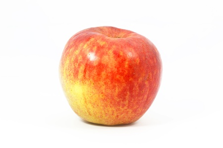Red apple with white background photo