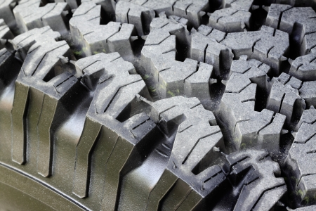 Close-up of new car tire photo