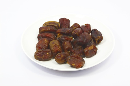 Close-up on dried dates