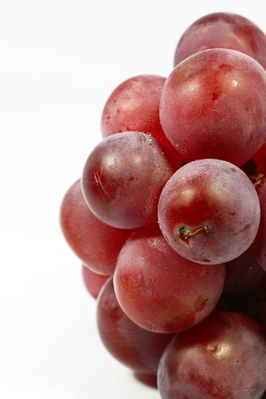Grapes with white background photo