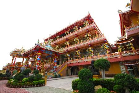 Chinese temple,Wihan Thep Sathit Phra Ki Ti Chaloem   San Chao Na Cha   ,chonburi Thailand
