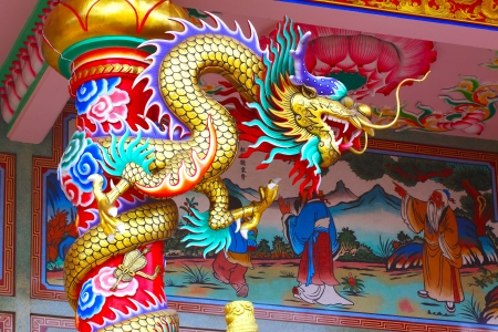 Chinese style dragon statue Editorial