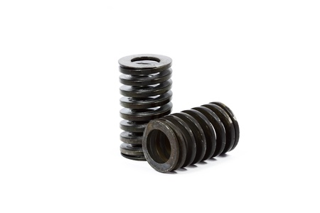 strut: Metal springs with white background