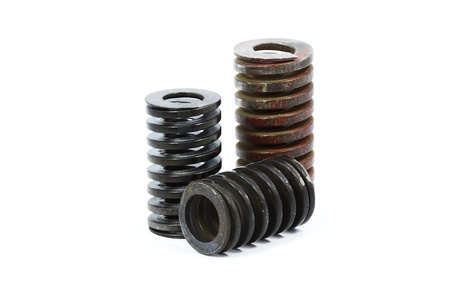 Metal springs with white background