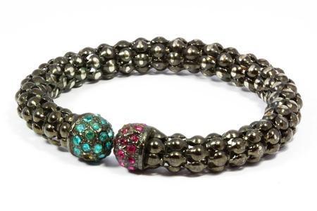 Black bracelet with white background Stock Photo - 21583150