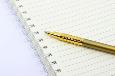 Gold Pen with white background photo