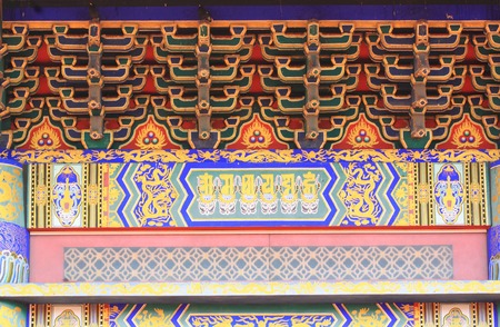 Roof of chinese temple photo