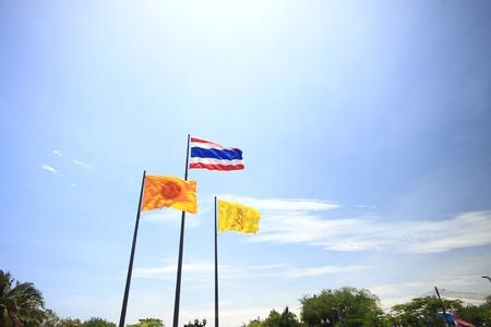 thailander flag: Big flag in thailand