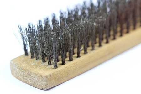 Wire brush with white background