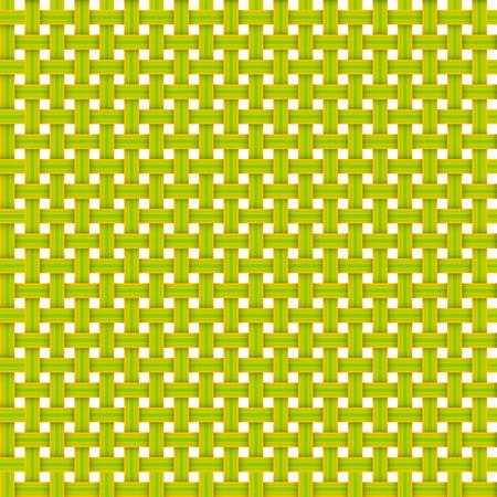 wicker seamless pattern, yellow and green