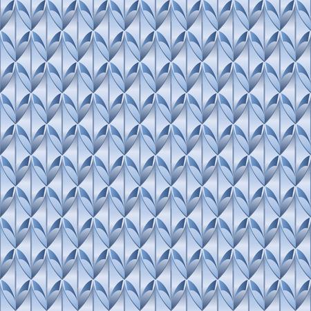 青いうろこ状のシームレスなパターン、メタリック、スケールドラゴンやヘビを連想させる