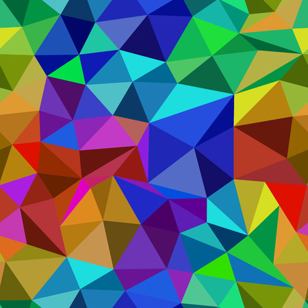 Bright abstract seamless pattern of triangles  - fire and ice