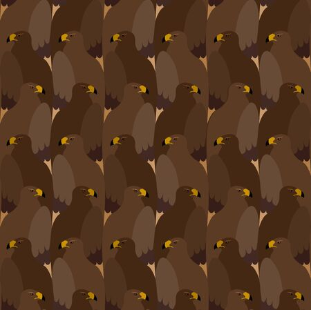 Seamless pattern with parrots in Esher style, tessellation.