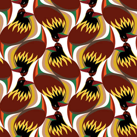 seamless pattern with abstract birds, tessellation. Vector illustration EPS 10