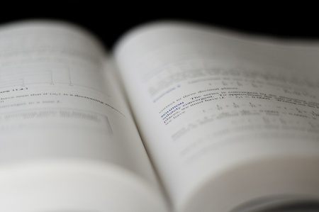 text book shallow dof with solution in focus