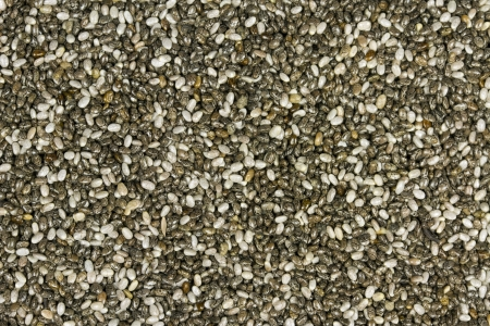 empires: Top view of chia seeds  Can be used as background  The people of the ancient Aztec and Incan empires revered chia seeds as viral nourishment Stock Photo