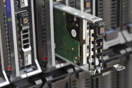 harddrive: Harddisk in a blade server  This is a 2,5  SAS harddrive  Shot in a data center