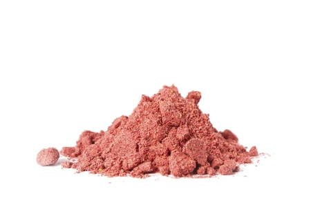 Organic Bio Fruit Powder on white background