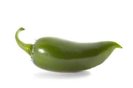 jalapeno pepper: Organic Green Jalapeno pepper spice on white background