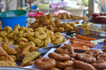 Indian street food in Indien Stadt in Penang, Malaysia