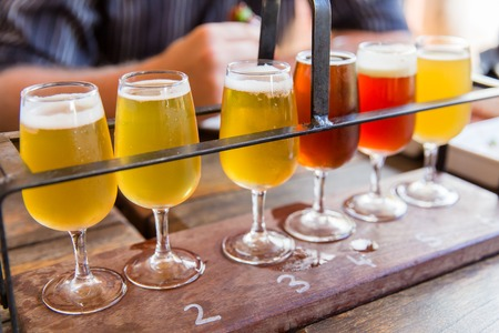 ipa: Tasting of many different types of beers.