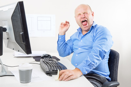 wimp: Office worker screaming