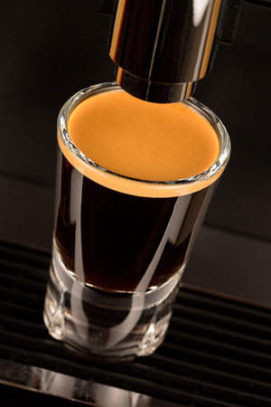 Strong double espresso coffee shot photo