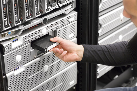 It consultant work with backup in datacenter photo